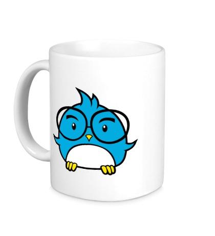 Керамическая кружка Птичка в очках