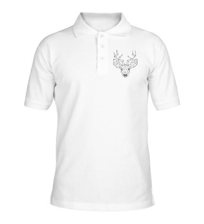 Рубашка поло Эскиз оленя