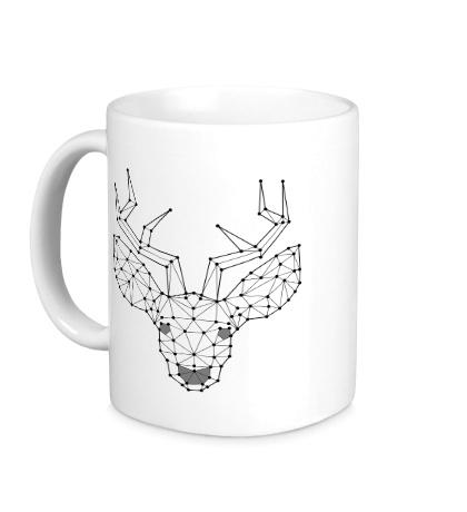 Керамическая кружка Эскиз оленя