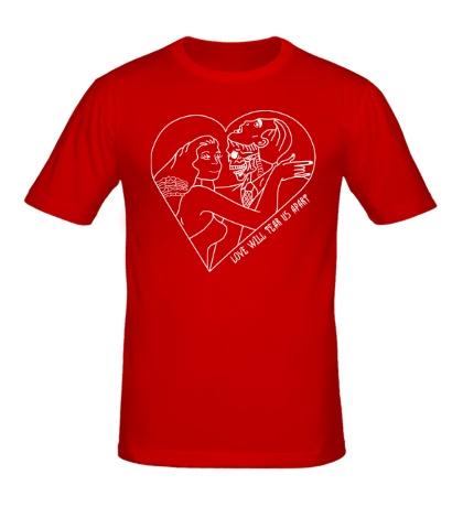 Мужская футболка Love Will Tear Us Apart