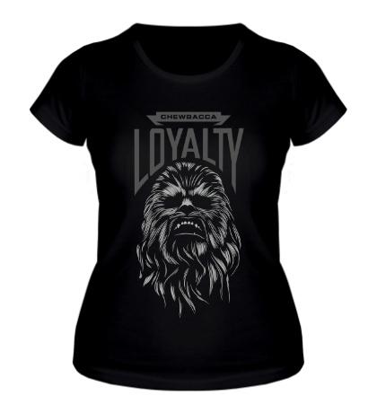 Женская футболка Чубакка лояльный