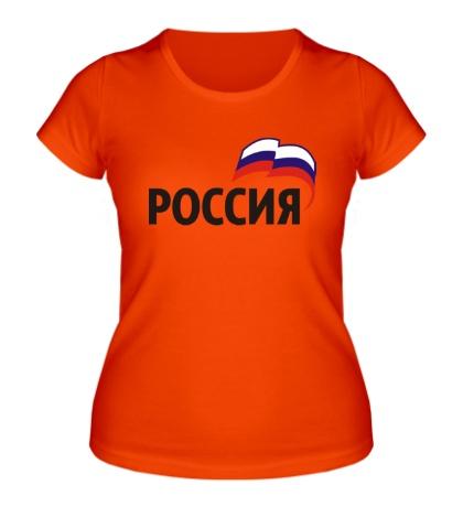 Женская футболка Наша Россия