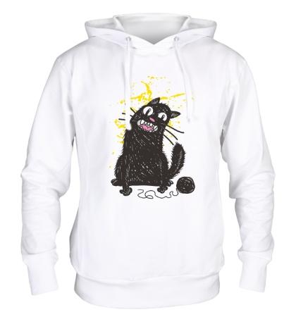 Толстовка с капюшоном Черный кот