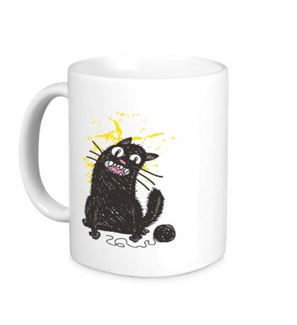 Керамическая кружка Черный кот