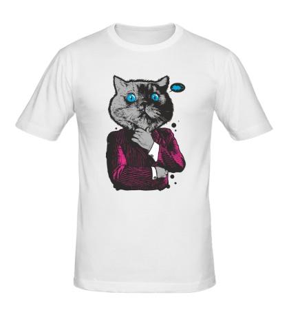 Мужская футболка Кот бизнесмен