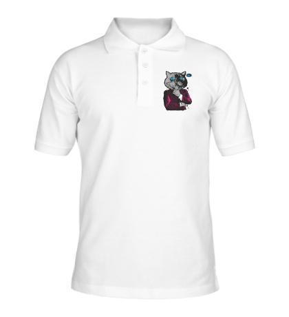 Рубашка поло Кот бизнесмен
