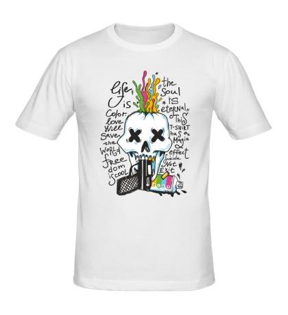 Мужская футболка Life is Color