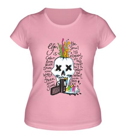 Женская футболка Life is Color