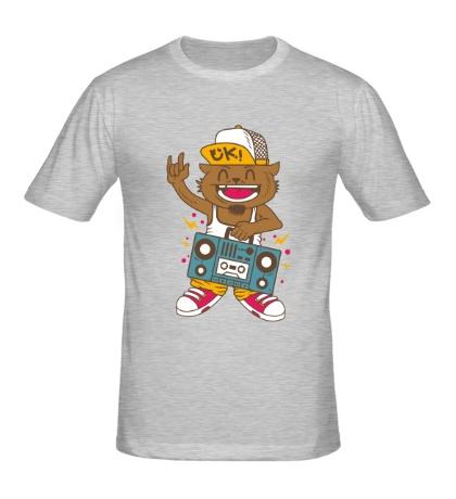 Мужская футболка Музыкальный кот