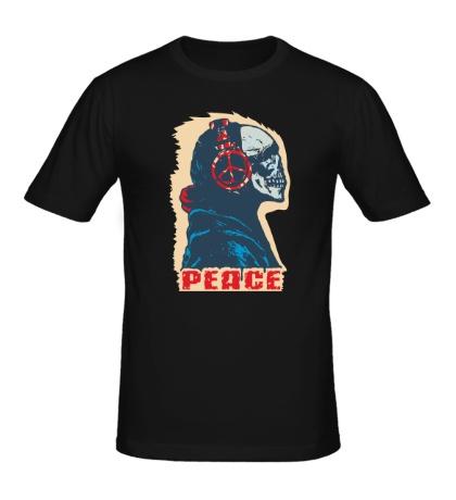 Мужская футболка Череп музыки