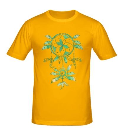 Мужская футболка Ловец снов акварель