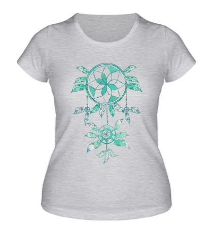 Женская футболка Ловец снов акварель
