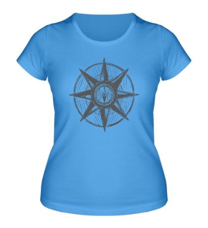 Женская футболка Морской компас