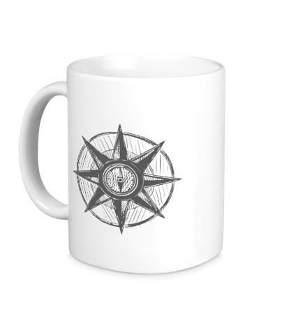 Керамическая кружка Морской компас