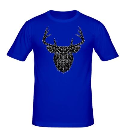 Мужская футболка Олень: черная мозаика