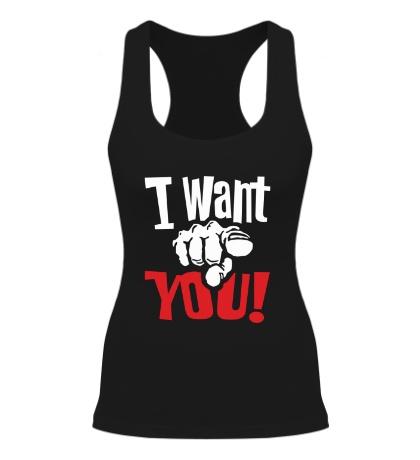Женская борцовка I want you!
