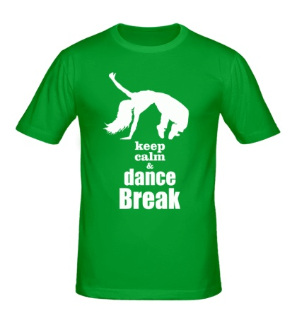 Мужская футболка Keep Calm & Dance Break Girl