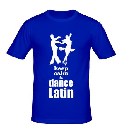Мужская футболка Keep calm & dance latin