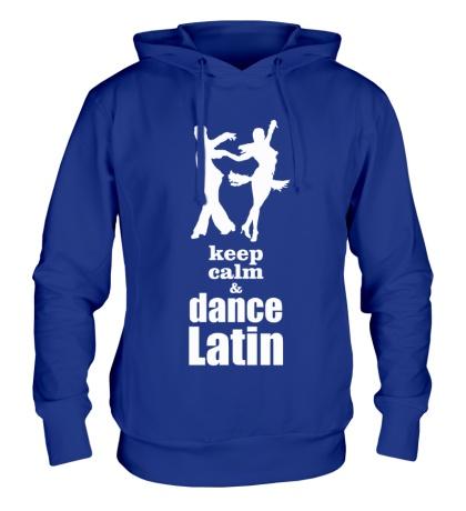 Толстовка с капюшоном Keep calm & dance latin