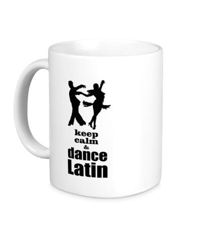Керамическая кружка Keep calm & dance latin