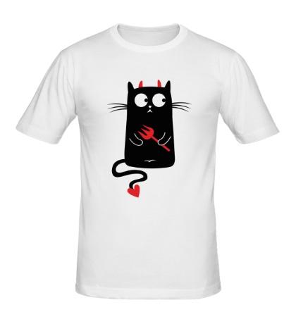 Мужская футболка Кот-дьявол, для него