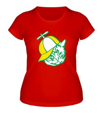Женская футболка Серьёзный кот