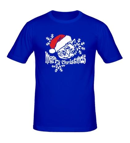 Мужская футболка Рождественский кот