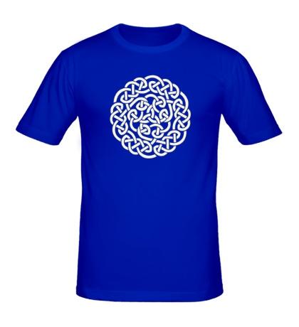 Мужская футболка Кельтское плетение, свет