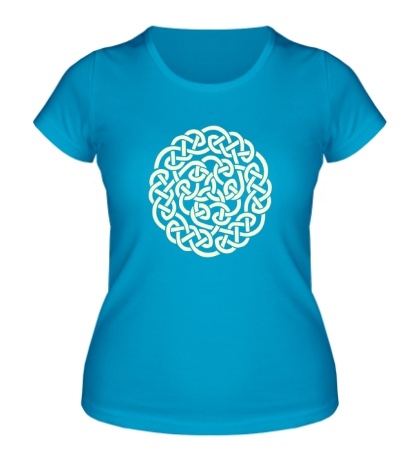 Женская футболка Кельтское плетение, свет