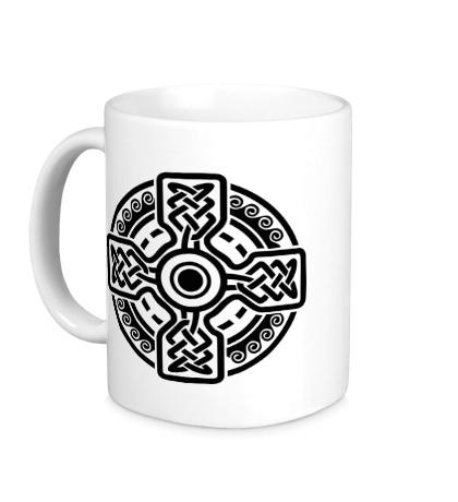Керамическая кружка Кельтский крест