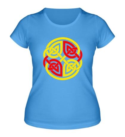 Женская футболка Двойной кельтский узор