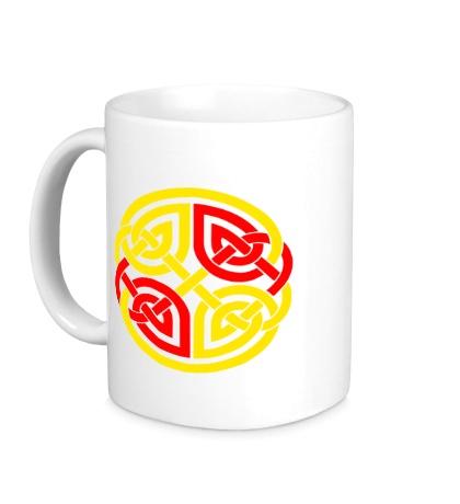 Керамическая кружка Двойной кельтский узор