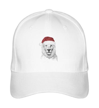 Бейсболка Лев в шапке Санты