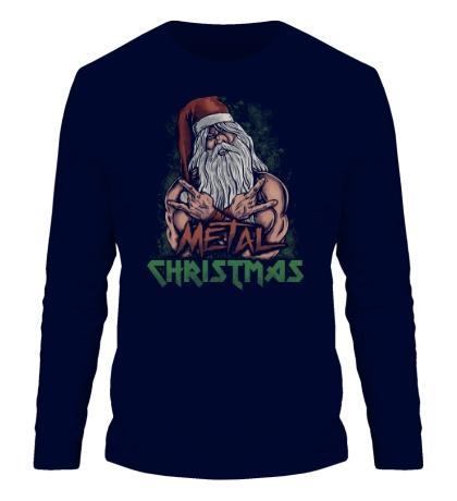 Мужской лонгслив Metal Christmas