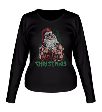 Женский лонгслив Metal Christmas