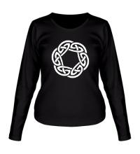 Женский лонгслив Кельтское плетение