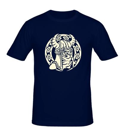 Мужская футболка Кельтский кот-викинг