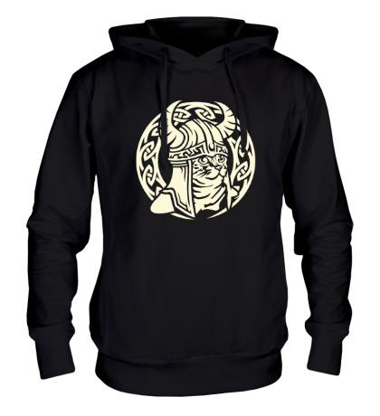 Толстовка с капюшоном Кельтский кот-викинг