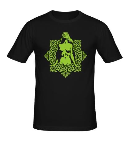 Мужская футболка Женщина в кельтском круге