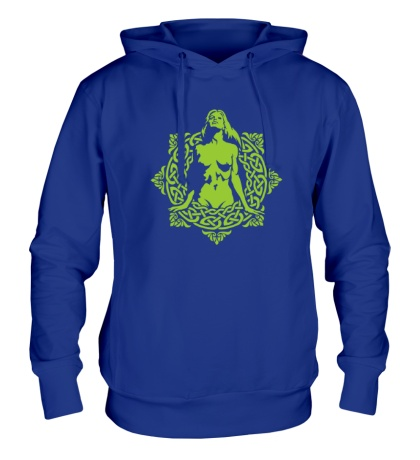 Толстовка с капюшоном Женщина в кельтском круге