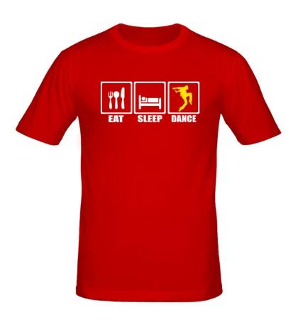 Мужская футболка Eat sleep dance