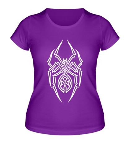 Женская футболка Паук: кельтский узор