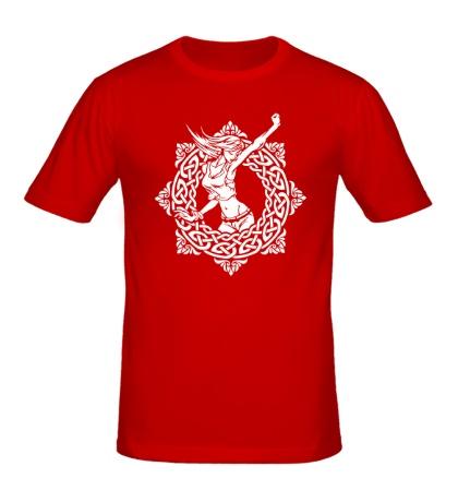 Мужская футболка Девушка в кельтском круге