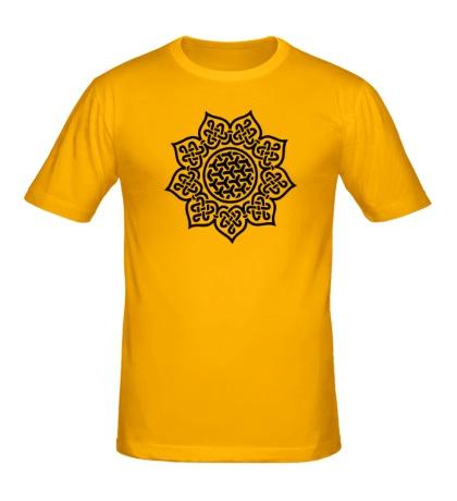 Мужская футболка Цветок: кельтский узор
