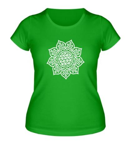 Женская футболка Цветок: кельтский узор
