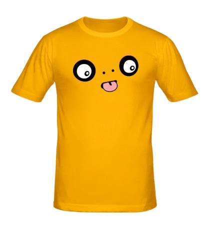 Мужская футболка Забавный монстр показывает язык