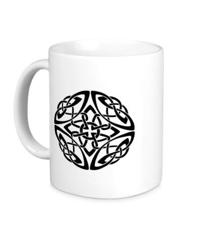 Керамическая кружка Сложный кельтский узор