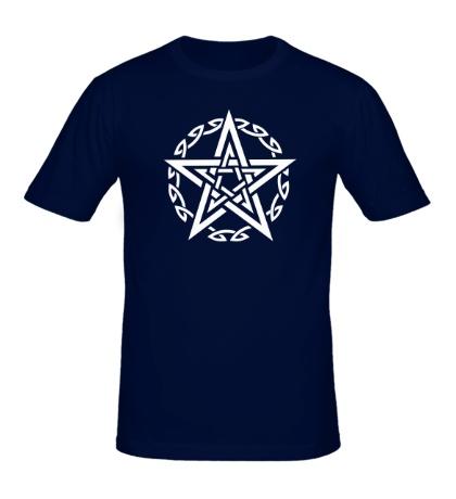 Мужская футболка Звезда в кельтском круге
