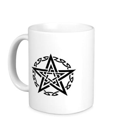 Керамическая кружка Звезда в кельтском круге