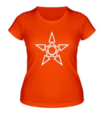 Женская футболка Кельтская тату-звезда